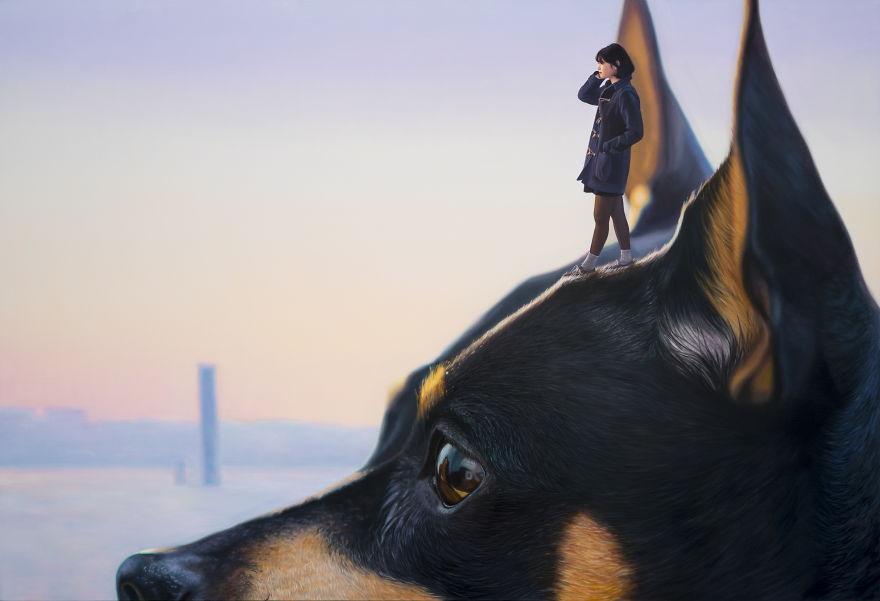Собака рисунок