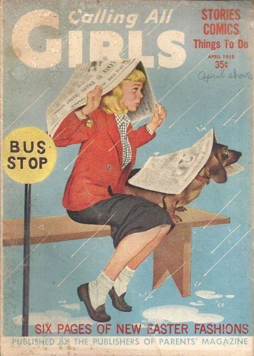 Таксы на обложках старого журнала