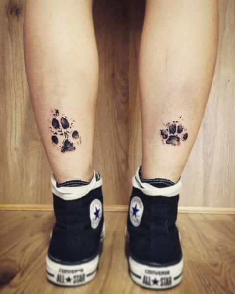 Отпечаток собачьей лапы, или Татуировка в честь любимой собаки